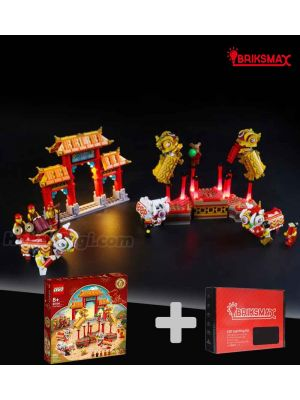 Briksmax 專用燈光組件 + LEGO Seasonal 80104 : Lion Dance (Bundle Set)