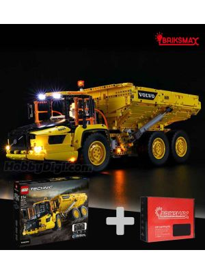 Briksmax Light Kit + LEGO Technic 42114 : 6 × 6 Volvo Articulated Hauler (Bundle Set)