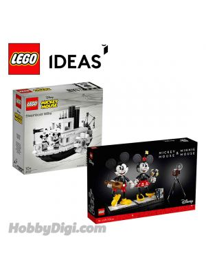 LEGO IDEAS | Disney 21317 - 43179  : Steamboat Willie | Mickey & Minnie Mouse