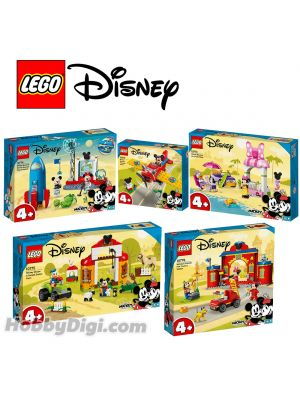 LEGO Disney 10772-10776 : Mickey Mouse's Propeller Plane | Minnie Mouse's Ice Cream Shop | Mickey Mouse & Minnie Mouse's Space Rock | Mickey Mouse & Donald Duck's Farm | Mickey & Friends Fire Truck & Station