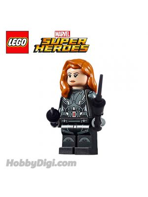 LEGO Loose Minifigure Marvel : Black Widow with Printed Arms