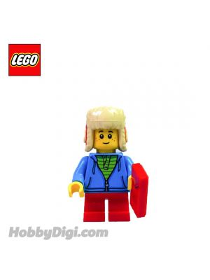 LEGO Loose Minifigure Seasonal : Little Boy with a Ushanka Hat and a Red Envelope