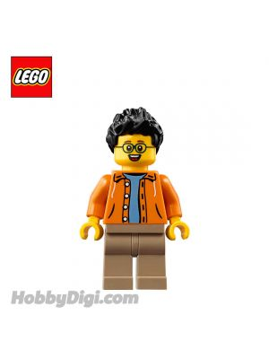LEGO Loose Minifigure Seasonal : Man Visitor with Orange Jacket
