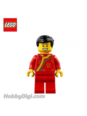 LEGO Loose Minifigure Seasonal : Game Stall Seller (Red Traditional Clothing)