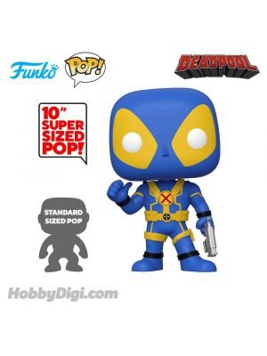Funko Pop! Heroes 548: Deadpool (Blue and Yellow-10 inch)