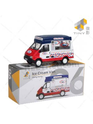 Tiny City Diecast Model Car 06 - Ice Cream Van New Wheel Version