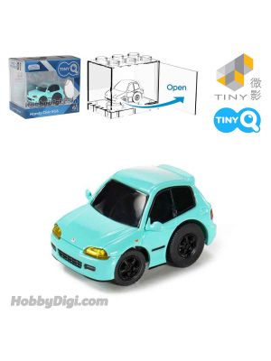 Tiny Q Pull Back Diecast Model Car - Honda Civic EG6 Teal
