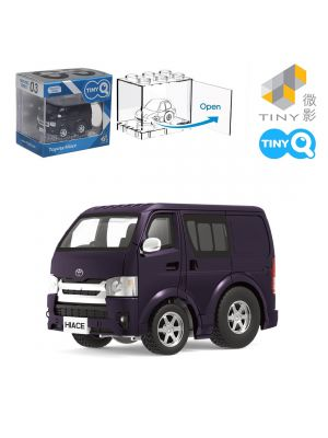 Tiny Q Pull Back Diecast Model Car Pro-Series 03 - Toyota Hiace Metallic Purple