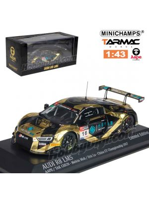 Tarmac Works X Minichamps 1:43 Model Car - Audi R8 LMS AAPE #6 China GT Championship 2017