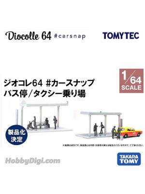 TOMYTEC Tomica Limited Vintage NEO 合金車 - Diocolle 64 # Bus Stop/ Taxi Stop