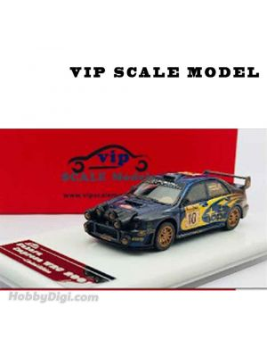 VIP SCALE Model 1:64 Diecast Model Car - SUBARU WRC 2002 #10 (Rally Lights Mud)