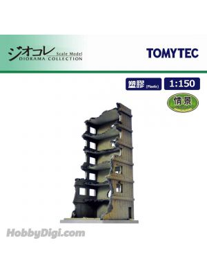 TOMYTEC Diorama Collection 1:150 Scenery Collection - 151 Hi-Rise Under Demolition