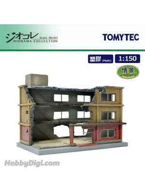 TOMYTEC Diorama Collection 1:150 Scenery Collection - 152 Apartment Complex Under Demolition