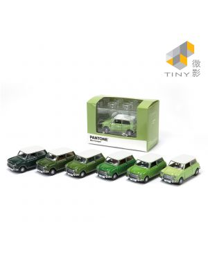 Tiny City Diecast Model Car - Mini Cooper X Pantone Set (Green)