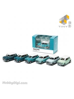 Tiny City Diecast Model Car - Mini Cooper X Pantone Set (Aquamarine)