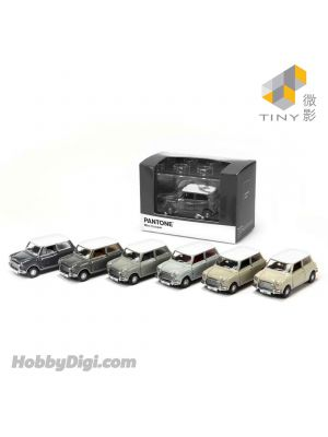 Tiny City Diecast Model Car - Mini Cooper X Pantone Set (Grey)