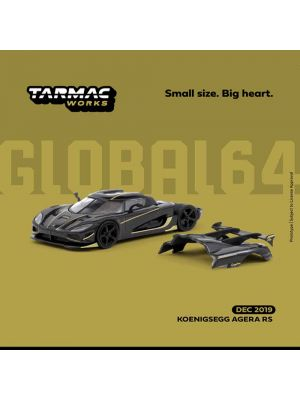 Tarmac Works GLOBAL64 1:64 Diecast Model Car - Koenigsegg Agera RS – Dark Grey / Yellow
